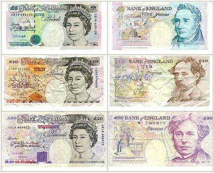 Geldscheine Englisch