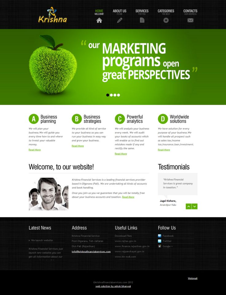 awesome 32 Sample Website Design Templates