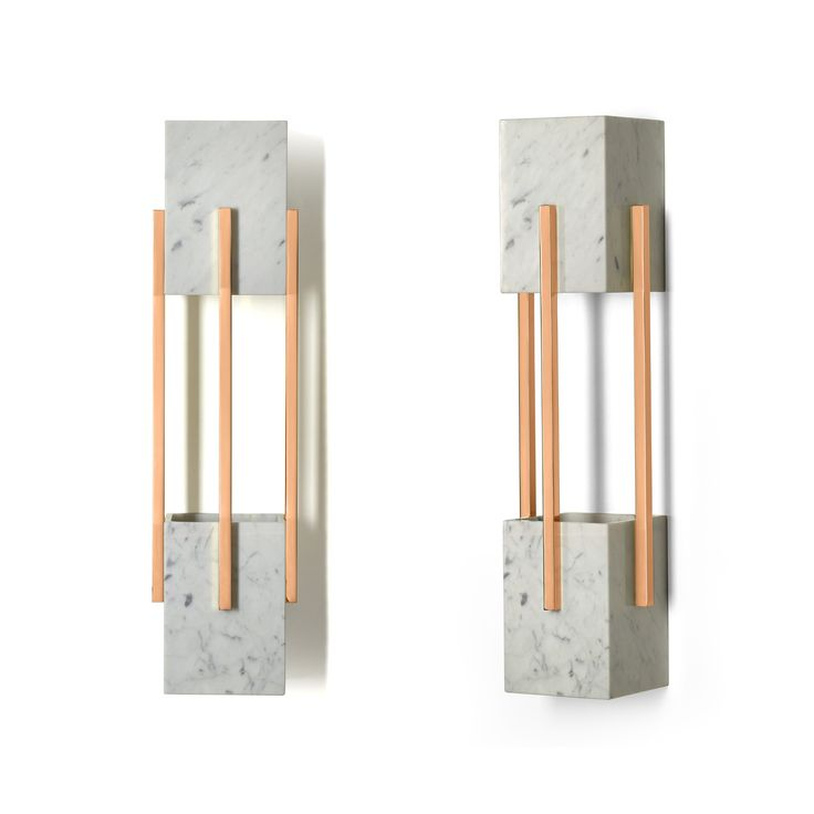 Addicted to Cooper! Looshaus wall lamp in carrara marble and polished copper <3 JSB  #insidherland #jsb #looshaus #walllamp #sconce #marble #carrara #copper #metal #marblelamp #lighting #modernlighting #contractlighting #marbledecor #design #furniture #pinterest #home #interiors #modernist #architectural #adolfloos