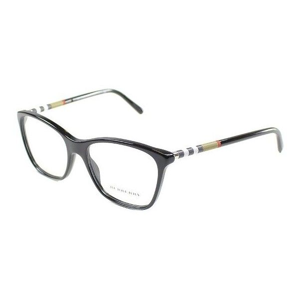 Burberry BE2141 3001 Black Full Rim Eyeglasses ($144) ❤ liked on Polyvore featuring accessories, eyewear, eyeglasses, burberry eyewear, plastic eyeglasses, burberry eyeglasses, burberry glasses and rimmed glasses