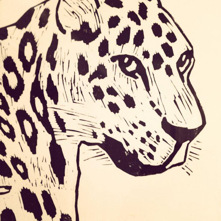 Monika Petersen linoprint detail