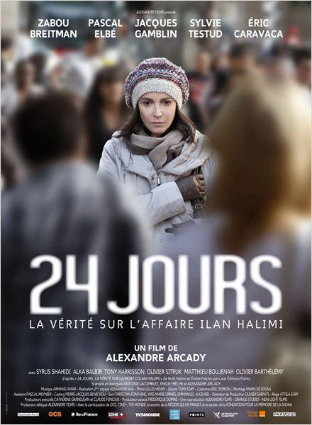 """<3<3<3<3 """"24 jours, la vérité sur l'affaire Ilan Halimi"""", un d'Alexandre Arcady avec Zabou Breitman, Pascal Elbé, Jacques Gamblin... (04/2014)"""