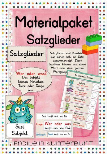 Materialpaket Satzglieder – Unterrichtsmaterial im Fach Deutsch – Natalie Dietz