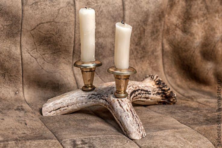 Купить подсвечник двойной - коричневый, подсвечник, Свечи, тепло, свет, колдовство, гадание, ведьма, ритуал