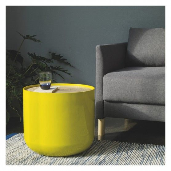 BLYTH Yellow storage side table | Buy now at Habitat UK
