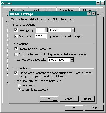 Funny computer joke, windows hidden settings. I'm tempted to make one of these for a mac...
