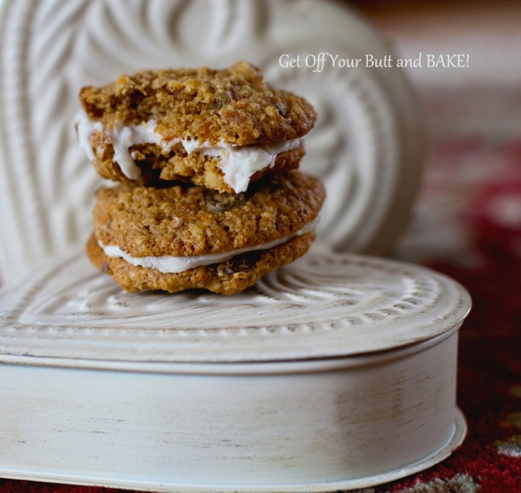 Carrot cake cookie sandwiches | Hand in the Cookie Jar | Pinterest