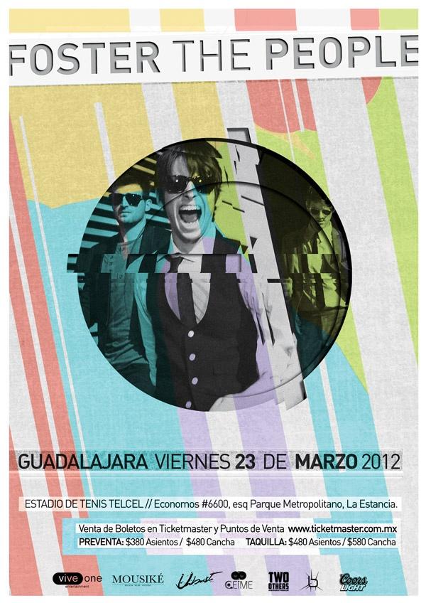Foster the People – 23 Marzo 2012 @ Estadio de Tenis Telcel