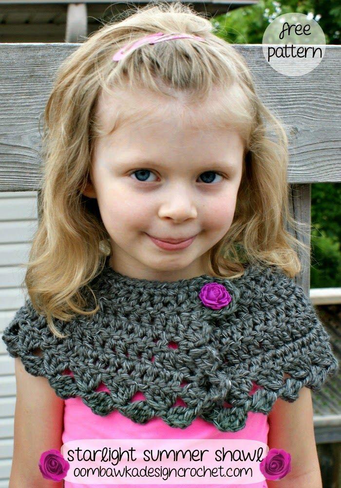 free crochet pattern child summer shawl