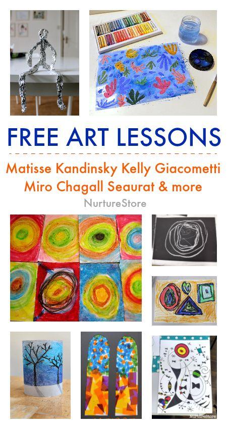 Kunstunterricht für berühmte Künstler für Kinder, Kunstgeschichtsunterricht, Kunstprojekte für …