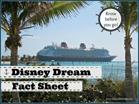 Disney Dream Fact Sheet #DCL #DisneyCruise