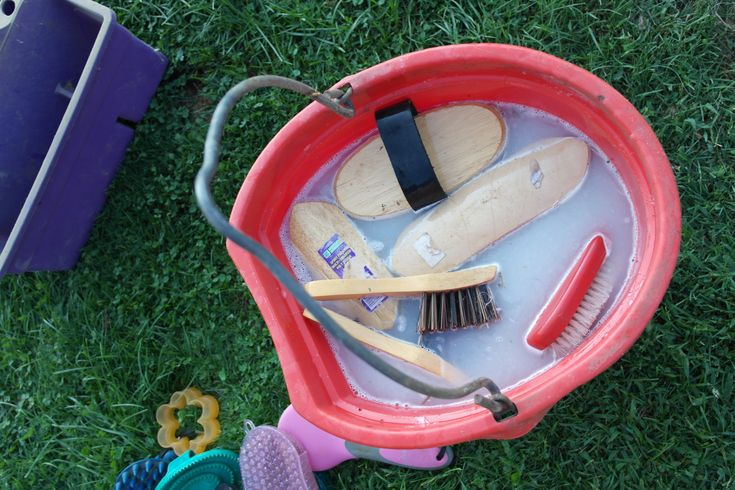 Horsey How-To: Cleaning Grooming Tools - The Charming Farmer