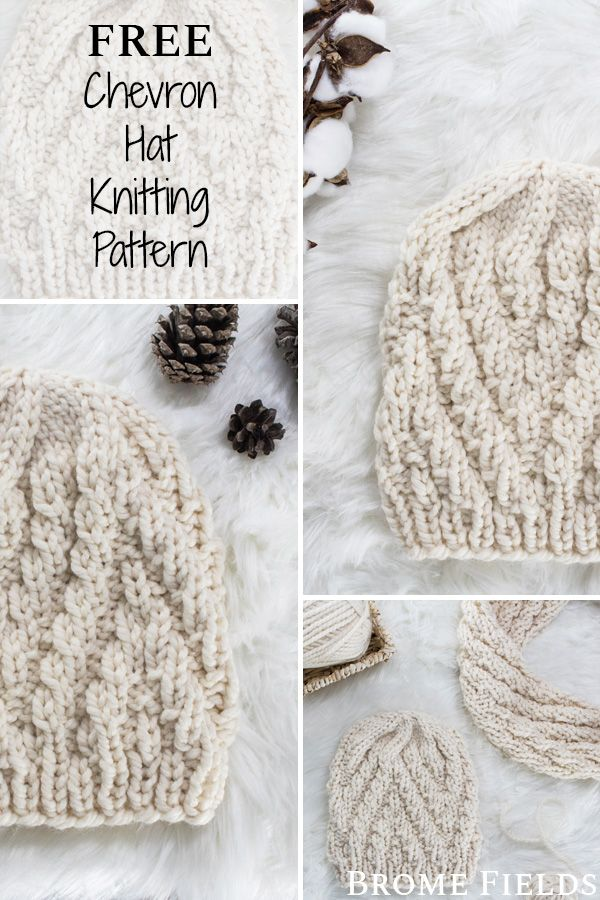 Basic Hat For Child And Adult Knit Flat Supplies Needed