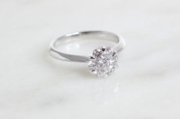 Bilkey & Co. cluster diamond ring.