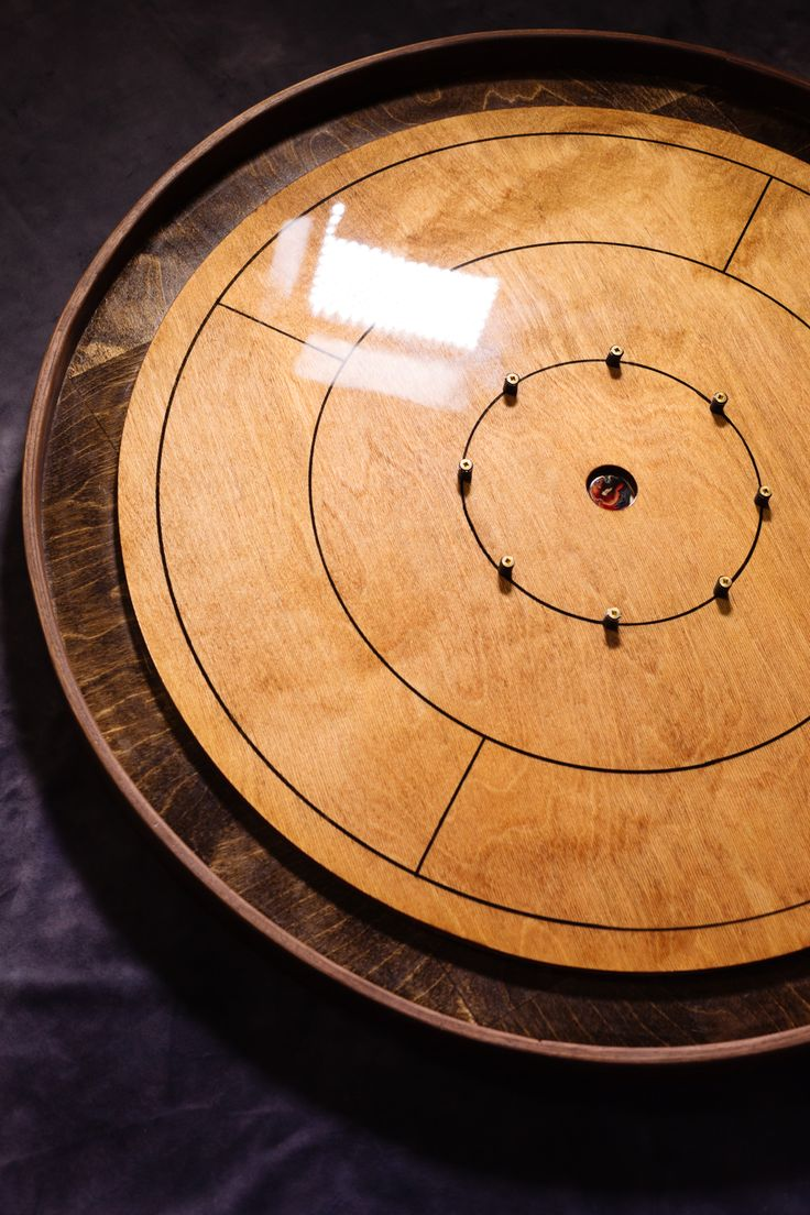 Best Light Weight Artisanal Crokinole Game Board With A Solid 400 x 300