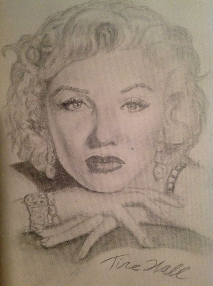 One of my old drawings of Marilyn Monroe - art by Hall