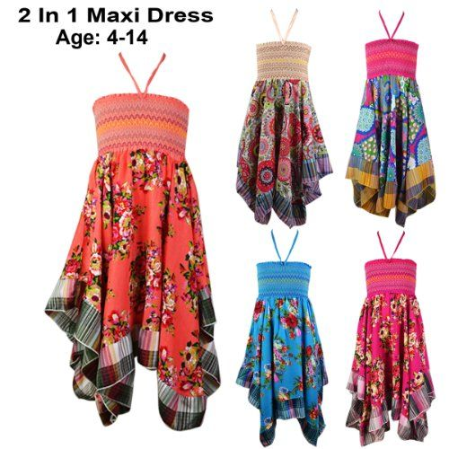 New Girls Kids Tween Trendy Handkerchief 3/4 Maxi Skirt Floral Summer Dresses AGE 4-14 Years (10, Blue) FAST TREND CLOTHING,http://www.amazon.co.uk/dp/B00K7ISZ7U/ref=cm_sw_r_pi_dp_6aDEtb0CASSTH8KM
