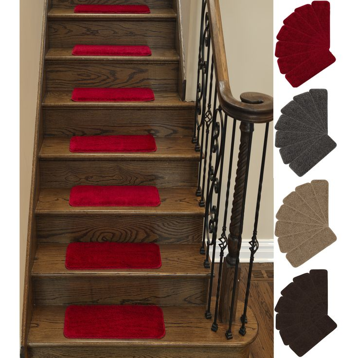 Ottomanson Comfort Collection Soft Shag Carpet Stair Treads