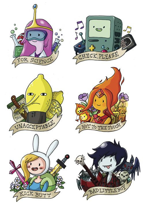 Adventure Time stickers...