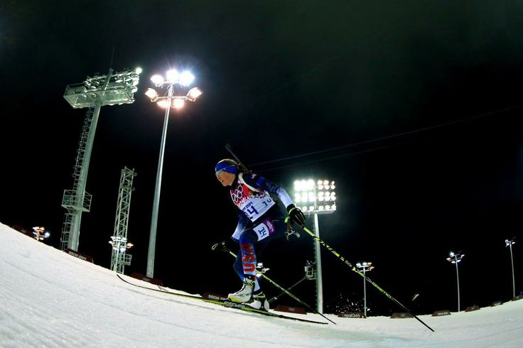 DAY 5:  Susan Dunklee of the United States competes in the Biathlon Women's 10km Pursuit http://sports.yahoo.com