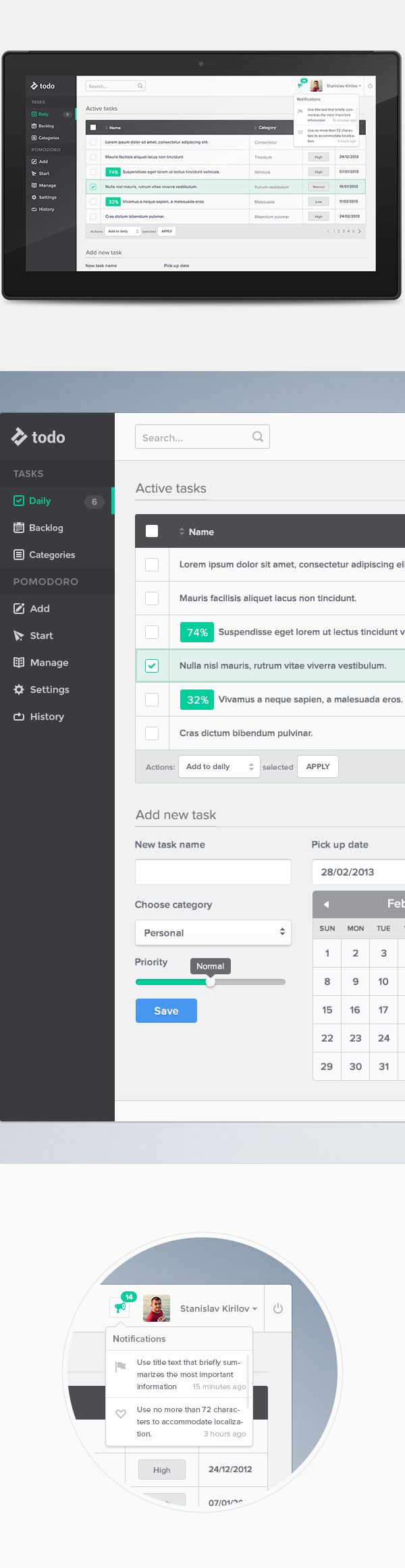 Productivity Platform by Stanislav Kirilov, via Behance
