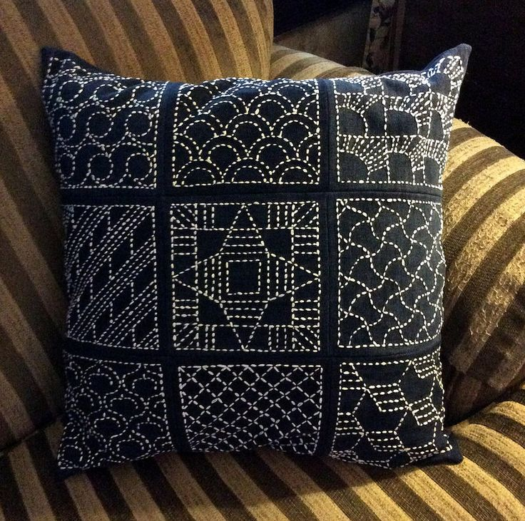 sashiko pillow | por davis.jacque