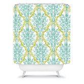 $89 Found it at AllModern - Rebekah Ginda Design Lovely Damask Shower Curtain
