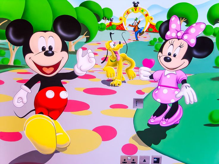This Mickey Mouse Clubhouse Mural Was Painted By Hand