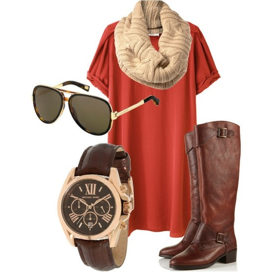 Accessorized!: Colors Combos, Fashion, Dreams Closet, Fall Outfits, Fall Looks, Riding Boots, Michael Kors Watches, Work Outfits, The Dresses