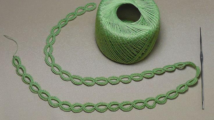 Урок вязания ЛЕНТОЧНОГО КРУЖЕВА - КОЛЕЧКИ - Crochet Simple Lace - как вя...