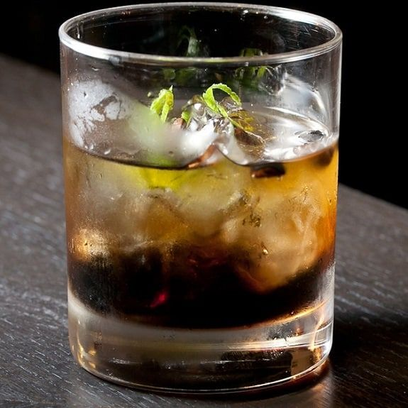 Brave bull cocktail. Tequila based mixed drink disguised by the softness of the Kahlua liqueur.
