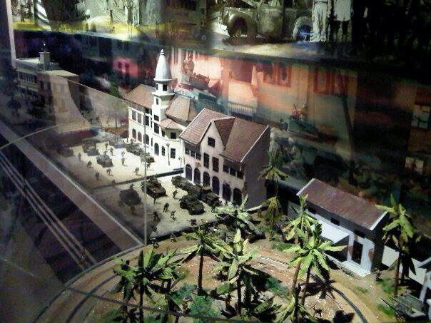 1/35 scale diorama battle of Surabaya, 1945, in ANRI museum Jkt Indonesia by ademodelart