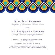 Wedding cards Peacock Pattern Royal Azure Wedding