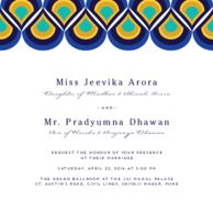Wedding cards Peacock Pattern Royal Azure Wedding