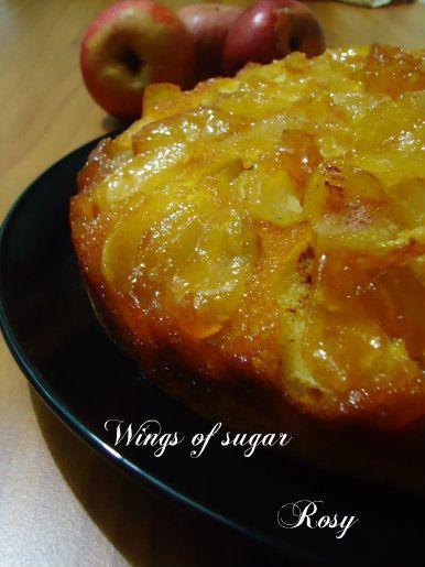 upside-down apple cake, recipe Torta di mele rovesciata, ricetta