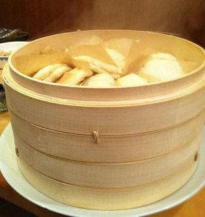 Homemade steamed buns, made from David Chang's Momofuku cookbook.