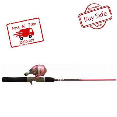 Spincasting Combos 179955: Woman Spincast Combo Pink Fishing Pole Rod Reel Slingshot Metal Gears Adjustable -> BUY IT NOW ONLY: $45.1 on eBay!