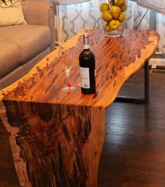 Miraculous Coffee Table Waterfall Table Natural Edge Maple Coffee Bralicious Painted Fabric Chair Ideas Braliciousco
