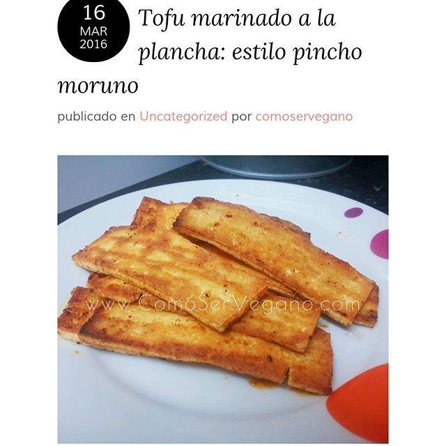 Tofu marinado a la plancha