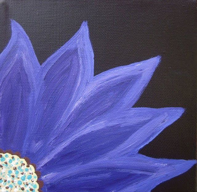 painted canvas flower but I want to add swartzsky crystals