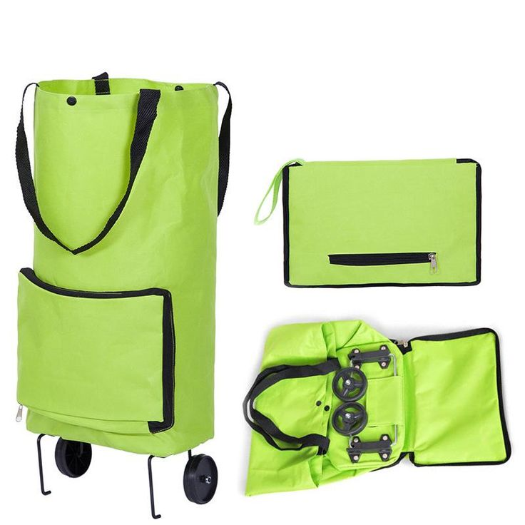 Folding Shopping Bag ,Shopping Trolley Bag on Wheels Bags , Grocery Shopping Organized Portable Bag (Free Shipping)