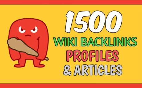 I will create 1500 wiki backlinks hq, rank 1st on google now