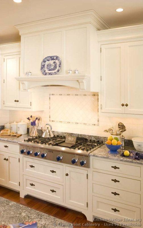 kitchen idea of the day a classic wood hood professional range top - Kitchen Range Hood Ideas