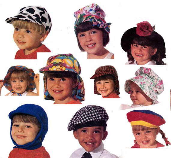 Kids Sun Hats Pattern McCall's 6818 Bucket by allthepreciousthings