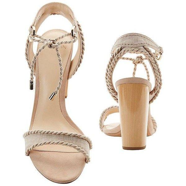 Alexandre Birman Women's Olivia Rope Tie Sandals (65140 DZD) via Polyvore featuring shoes, sandals, alexandre birman, tie shoes, alexandre birman shoes, self tying shoes and alexandre birman sandals