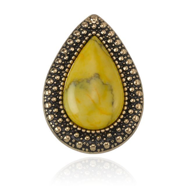 SAMANTHA WILLS - BOHEMIAN BARDOT RING - YELLOW AND GOLD INSTORE NOW #littleextras