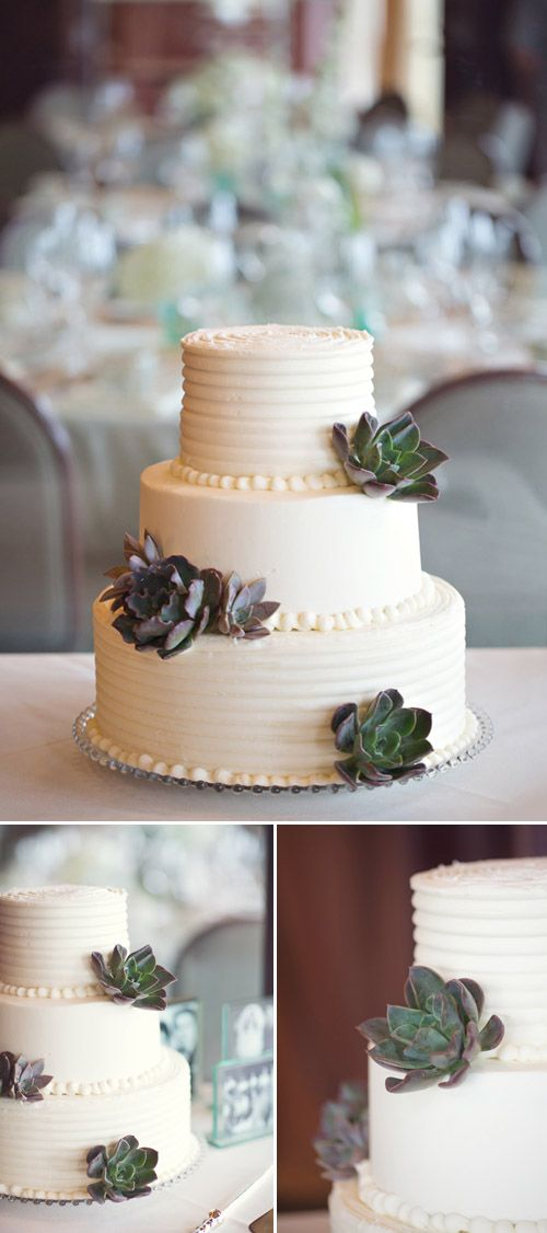 @Kristen Smith this cake made me think of you.    Beach Wedding with muted color palette, Photos by Vitalic Photo | Junebug Weddings