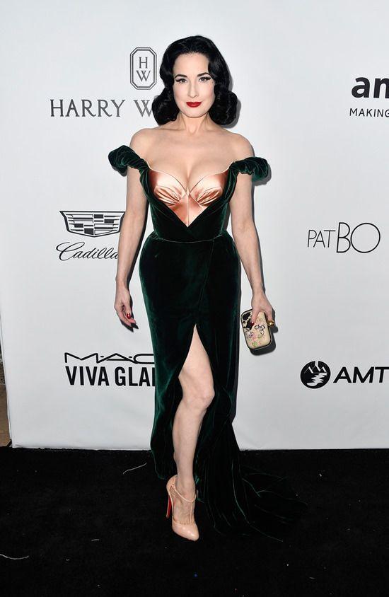6e69ad8e147 Dita Von Teese in Ulyana Sergeenko at the amfAR Los Angeles Gala ...