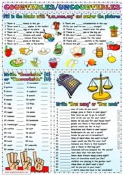 countables and uncountables worksheet
