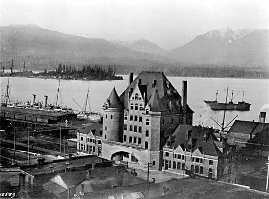 1900's- C.P.R. Station and Deadman's Island